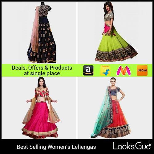 Lehenga For Women Buy Lehenga Choli Online In India At Cheapest Price Looksgud In