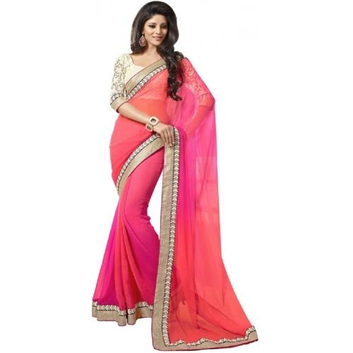 Triveni Striped Fashion Chiffon Sari