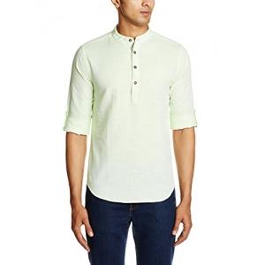 Jack & Jones Men's Mint Cotton Casual Shirt Medium Size