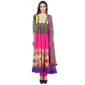 Jinaam Dresses Women's Multicolor Anarkali Salwar Suit