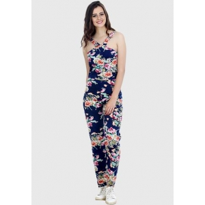 Faballey Blue Printed Jumpsuit
