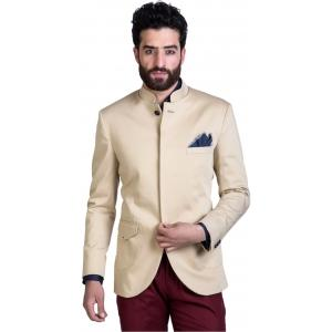 Mr Button Solid Single Breasted Men's Blazer