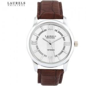 Laurels Analogue White Dial Men's Watch (Lo-Vet-201)