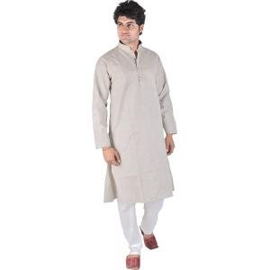 Exotic India Kurta Pyjama with Woven Stripes