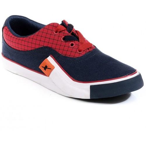 Sparx Navy & Red Sneakers