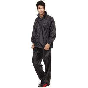 BS SPY 3 Piece Rainsuit With Cap And Cover Solid Men's Raincoat