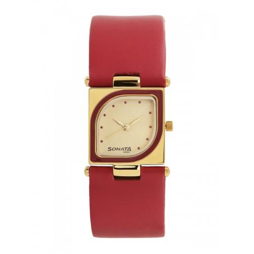 Sonata Yuva Analog Gold Dial Watch