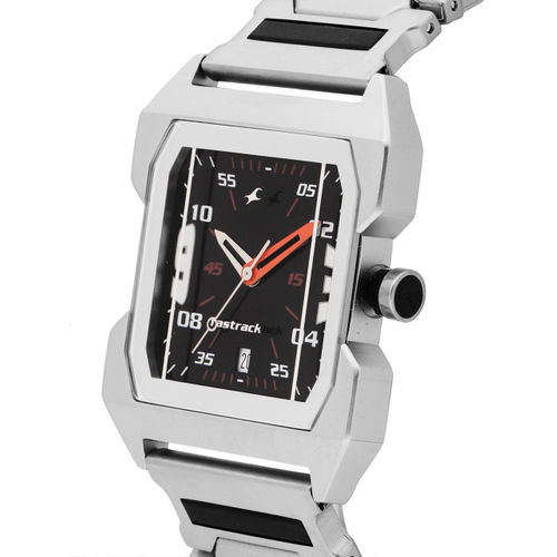 Fastrack Stainless Steel Asymmetric Analog Watch