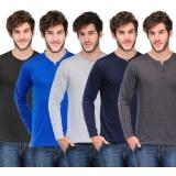 TSX Solid Men's Henley T-Shirt