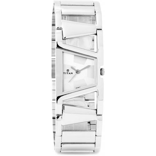 Titan 2486SM01 Silver Stainless Steel Analog Watch