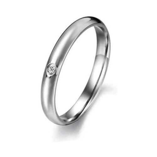 Aaishwarya Silver Band Alloy Crystal Ring