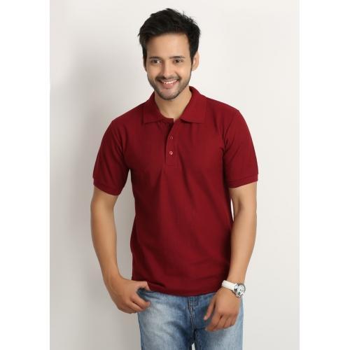 Buy weardo maroon solid polo t shirt for men online for Maroon t shirt for men