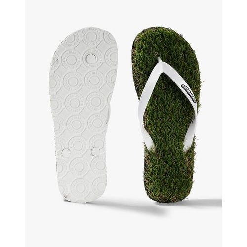Sole Threads Textured Thong-Strap Flip-Flops