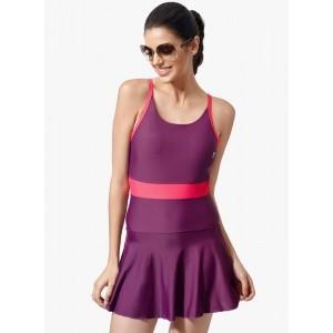 Penny Purple Solid Swimsuit