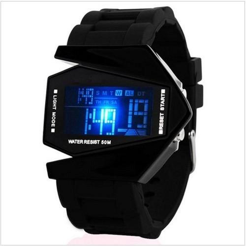 Generic Black Waterproof Digital Quartz Sports Watch