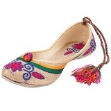 Footrendz Women's Ethnic Bright Coloured Tie-Ups Mojari