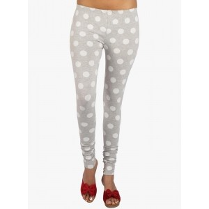27Ashwood Grey Polka Printed Leggings