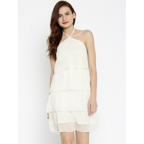 Sassafras Women's A-line White Dress