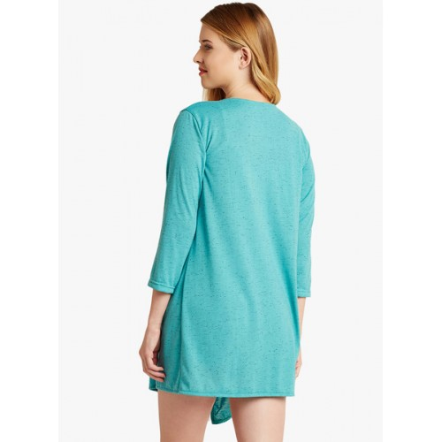 8a959bbd7e3 Buy Miss Chase Turquoise Textured Shrug online | Looksgud.in