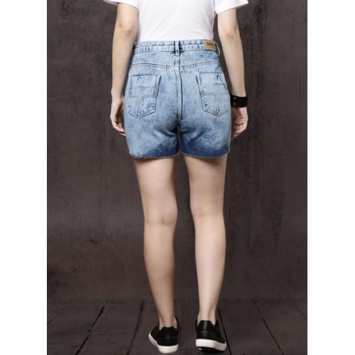 Roadster Blue Washed Shorts