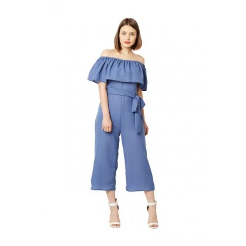 6efe22cc27fa Buy Miss Chase Women Blue Solid Bardot Culotte Jumpsuit online ...