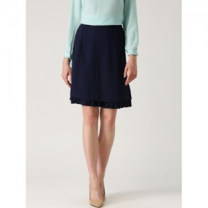 Marie Claire Navy A-Line Skirt