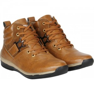 Kraasa Brown Solid The Rock Boots For Men