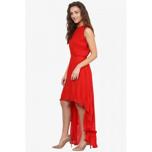 9448d655a91 Buy Miss Chase Women s Red Round Neck Sleeveless High Low Maxi Dress ...
