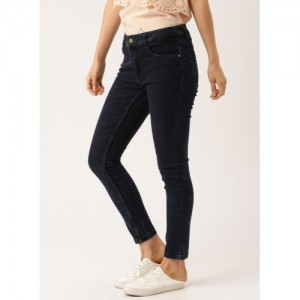 Dressberry Blue Mid Rise Skinny Fit Jeans