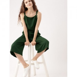 DressBerry Green Solid Culotte Jumpsuit
