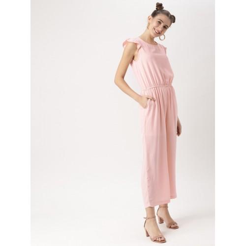 8e7840e1a04 Buy DressBerry Pink Solid Basic Jumpsuit online