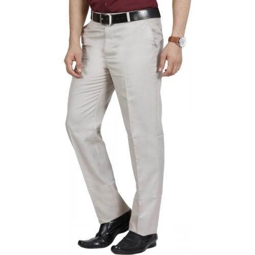 McHenry Regular Fit, Slim Fit Men's Cream Trousers