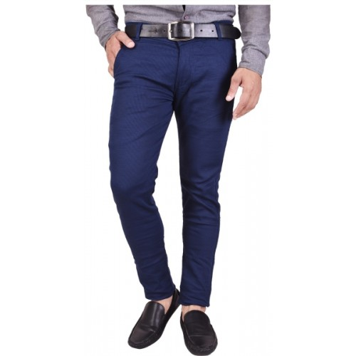 Nation Polo Club Slim Fit Men's Blue Trousers