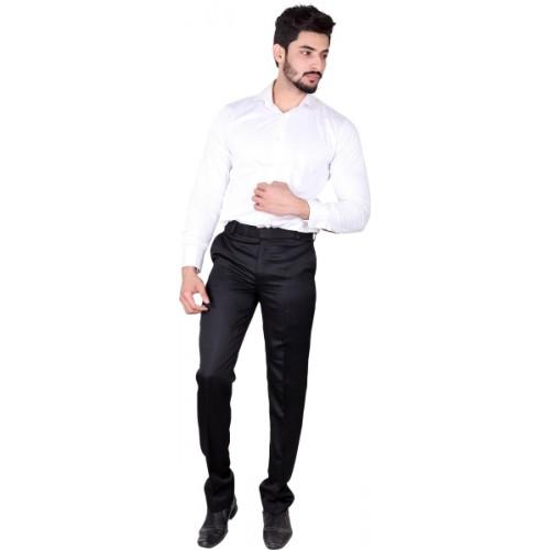 Villain Slim Fit Men's Black Trousers