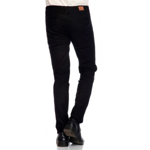 Ansh Fashion Wear Regular Fit Men's Black Trousers