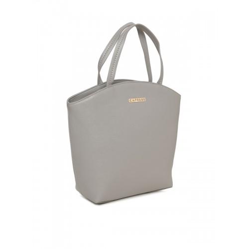 Caprese Grey Solid Handheld Bag