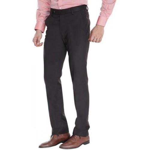ManQ Slim Fit Men's Brown Trousers
