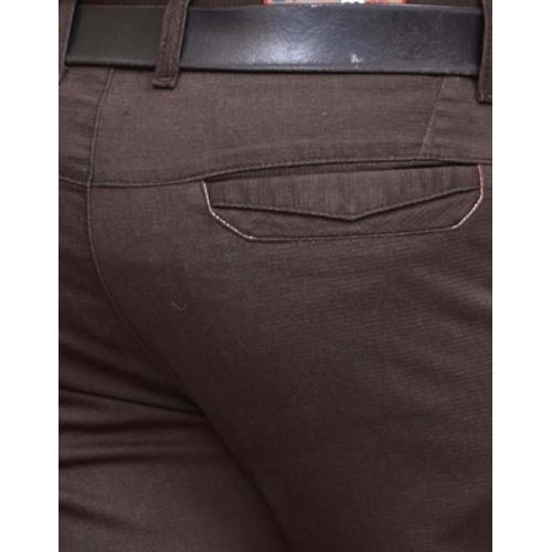 British Terminal Skinny Fit Men's Brown Trousers