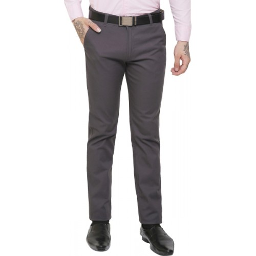 AD & AV Regular Fit Men Grey Trousers