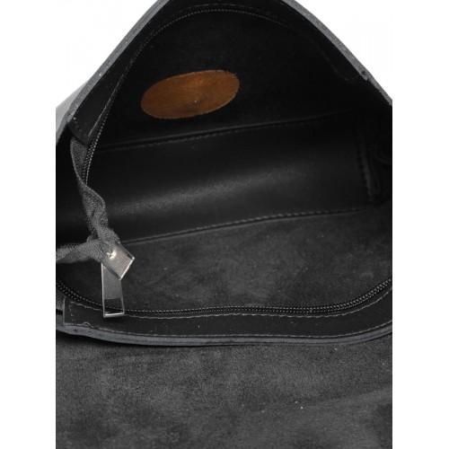 Lino Perros Grey Polyurethane (Pu) Sling Bag