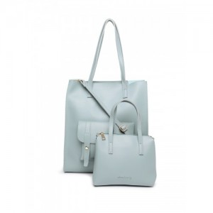 DressBerry Blue Solid Shoulder Bag with Pouch