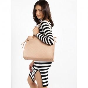 DressBerry Pink Textured Shoulder Bag