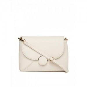 DressBerry Off-White Solid Sling Bag