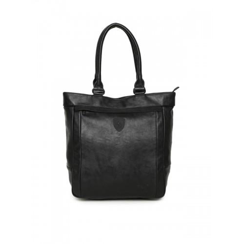 1b10149130 Buy Puma Black Scuderia Ferrari LS Shopper Shoulder Bag online ...