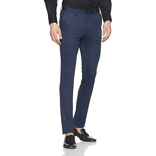 Buy Arrow New York Men S Pleat Front Poly Viscose Formal Trousers