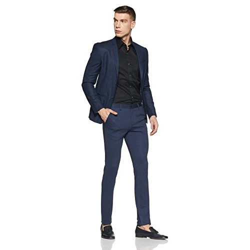 Arrow New York Men's Pleat-Front Poly Viscose Formal Trousers