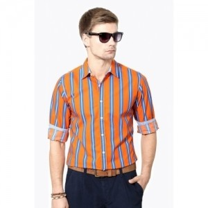 People Men's Striped Casual Shirt