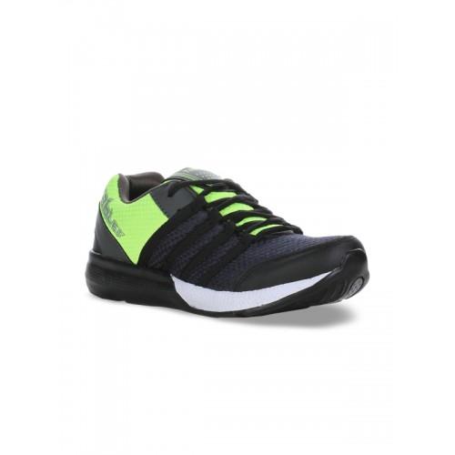 Columbus Men Black Running Shoes TB-328-BlackPGreen-10