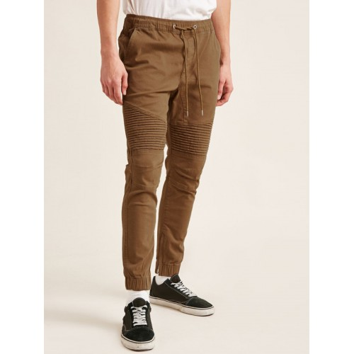 fac15ca1c6009e Buy FOREVER 21 Men Brown Regular Fit Solid Joggers online | Looksgud.in