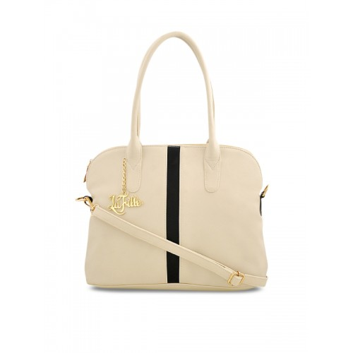 LaFille Cream Solid Handheld Bag